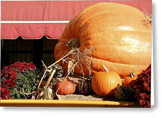 Corn Pyrography Greeting Cards - Pumpkin 3 Greeting Card by Susan Burnette