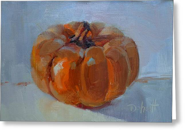 Donna Shortt Greeting Cards - Pumpkin Alone Greeting Card by Donna Shortt