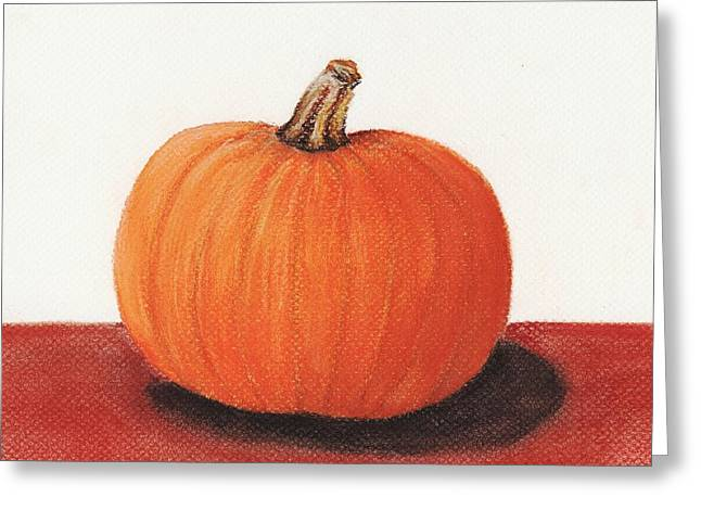 Interior Still Life Pastels Greeting Cards - Pumpkin Greeting Card by Anastasiya Malakhova