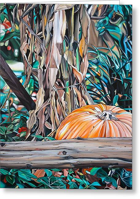Anthony Mezza Paintings Greeting Cards - Pumpkin Greeting Card by Anthony Mezza