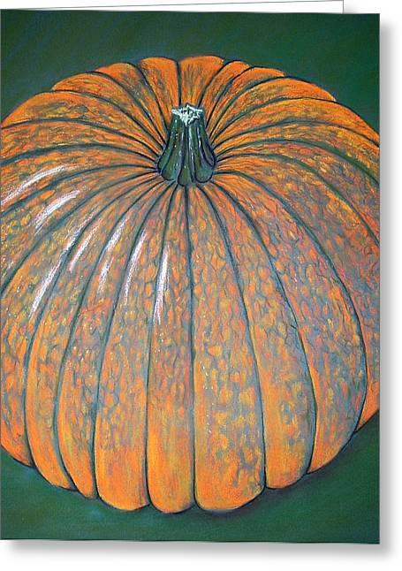 Pumpkins Pastels Greeting Cards - Pumpkin Greeting Card by Nina Shilling