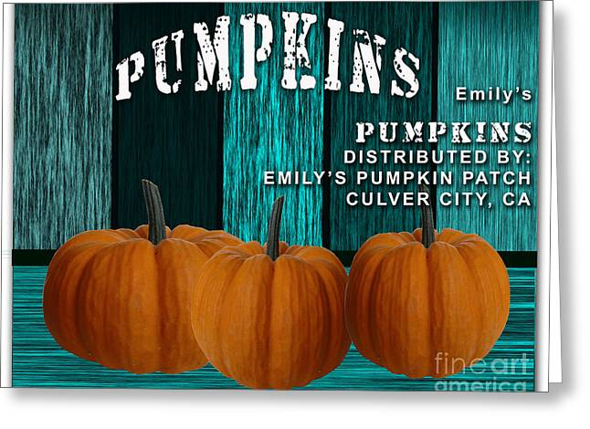 Fall Photographs Mixed Media Greeting Cards - Pumpkin Patch Greeting Card by Marvin Blaine