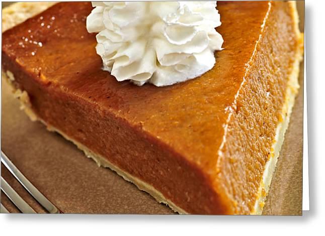 Pumpkin pie Greeting Card by Elena Elisseeva