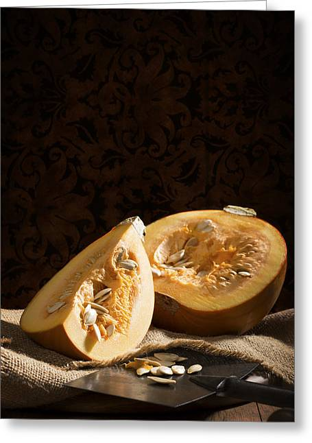 Pumpkins Greeting Cards - Pumpkin Slice Greeting Card by Amanda And Christopher Elwell