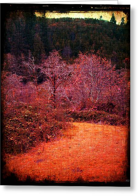 Bare Trees Mixed Media Greeting Cards - Pumpkin Spice Winter Greeting Card by Absinthe Art By Michelle LeAnn Scott