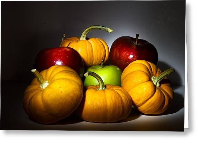Fuselier Greeting Cards - Pumpkins and Apples Greeting Card by Cecil Fuselier