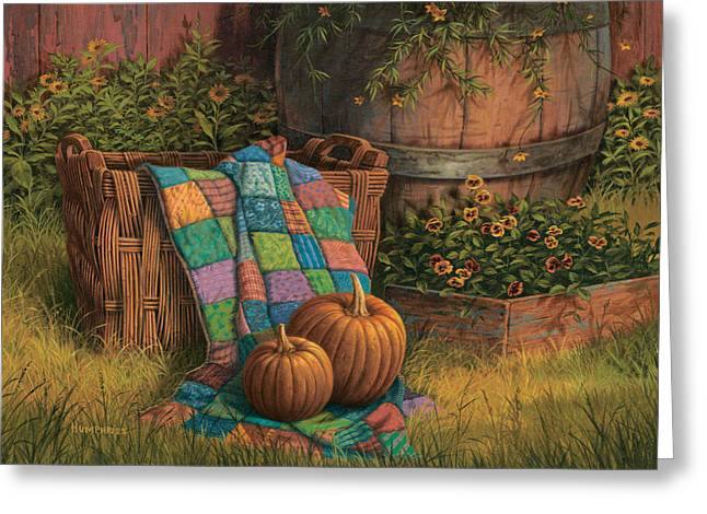 Thanksgiving Greeting Cards - Pumpkins and Patches Greeting Card by Michael Humphries
