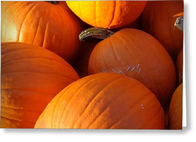 Farm Stand Greeting Cards - Pumpkins Greeting Card by Joseph Skompski