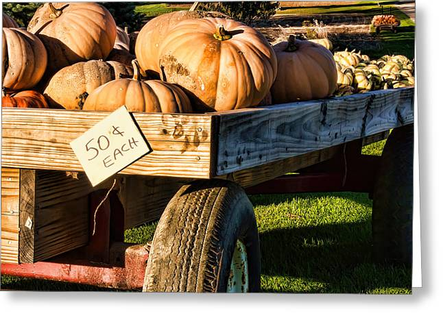 Farm Stand Greeting Cards - Pumpkins Greeting Card by Kent Taylor