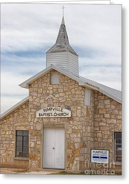 Langtry Greeting Cards - Pumpville Baptist Church Greeting Card by Erika Weber