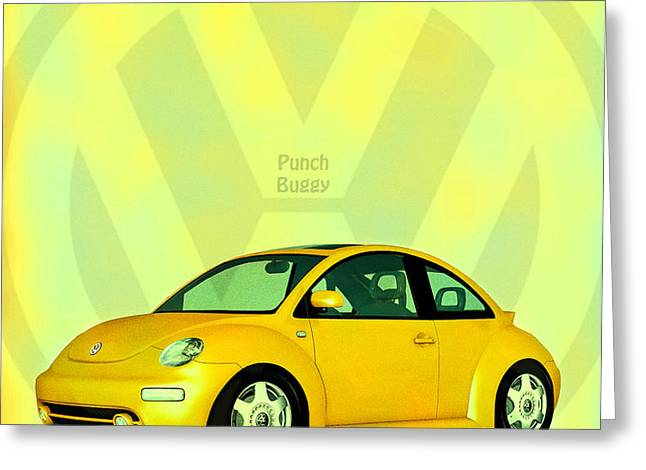 Punch Buggy Greeting Card by Bob Orsillo
