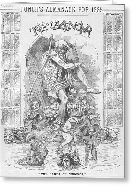 Punch's Almanack For 1885 Greeting Card by Konni Jensen
