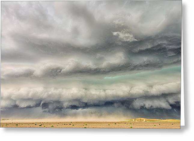 Supercell Greeting Cards - Punishing the Plains of Colorado Greeting Card by Shane Linke