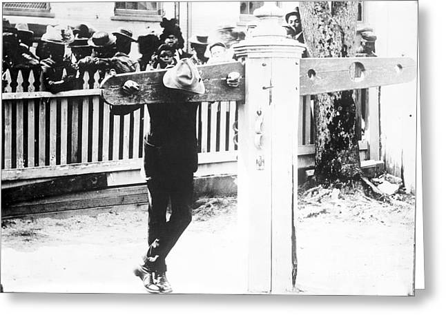 Sociology Greeting Cards - Punishment By Pillory, Historical Image Greeting Card by Library Of Congress