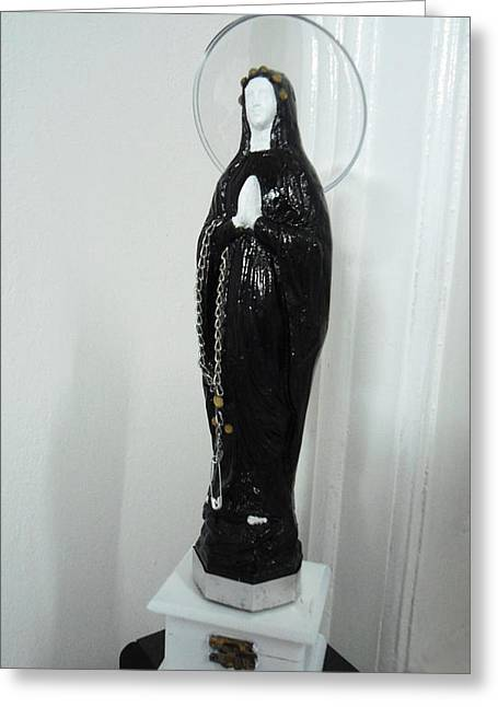 Religious Sculptures Greeting Cards - Punk-holy mother 2 Greeting Card by Golden Section