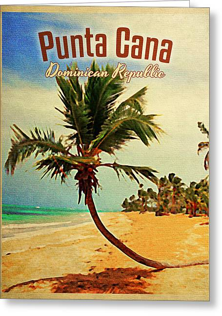 Punta Cana Dominican Republic Greeting Card by Flo Karp