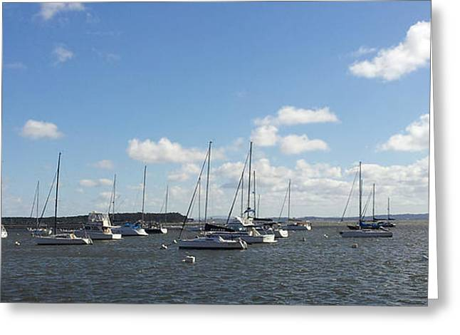 Ship Pyrography Greeting Cards - Punta del Este Harbor - Uruguay Greeting Card by Pablo Franchi
