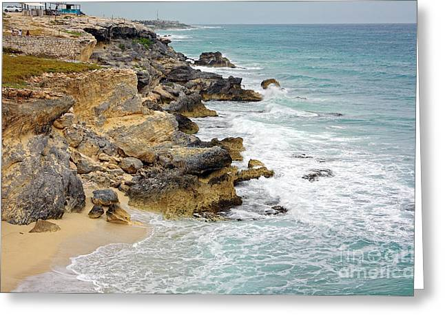 Isla Mujeres Greeting Cards - Punta Sur Greeting Card by Charline Xia