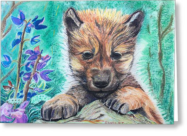 Pup Pastels Greeting Cards - Pup Greeting Card by Robert Stokes