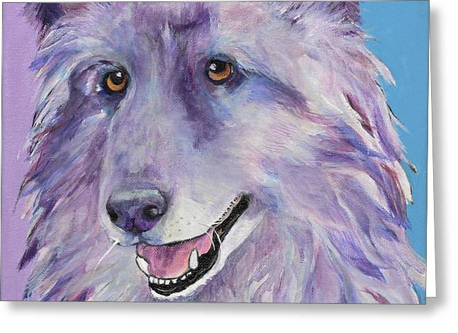 Pat Saunders-white Greeting Cards - Puppy Dog Greeting Card by Pat Saunders-White