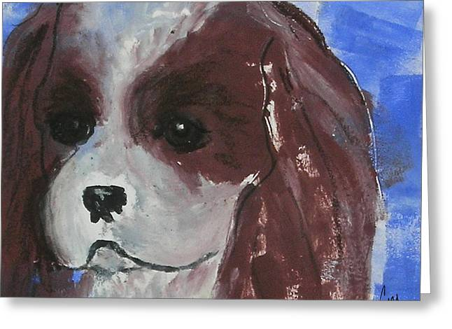 Hand Pulled Print Greeting Cards - Puppy Doll Greeting Card by Cori Solomon