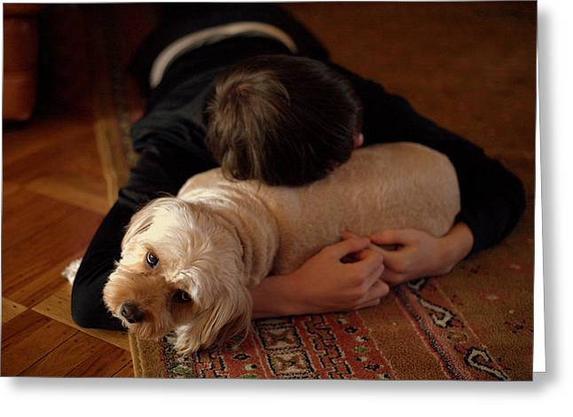 Dog Photographs Greeting Cards - Puppy Love Greeting Card by JC Findley