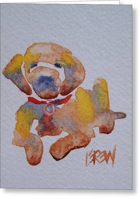 Puppies Drawings Greeting Cards - Puppy Love Greeting Card by Larry Lerew