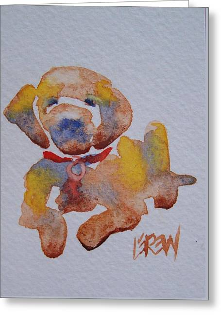Working Dog Drawings Greeting Cards - Puppy Love Greeting Card by Larry Lerew