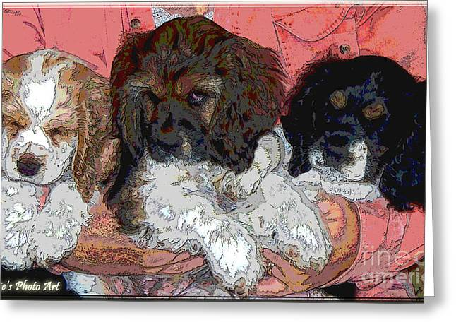 Puppy Love  Sugar         Little Bear And Peanut Greeting Card by Debbie Portwood