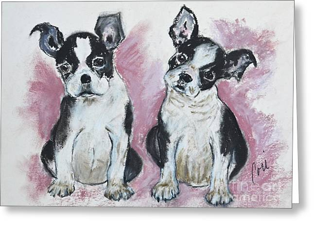 Puppies Pastels Greeting Cards - Puppy Puppy Greeting Card by Cori Solomon