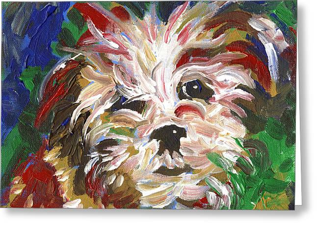Puppy Spirit 101 Greeting Card by Linda Mears