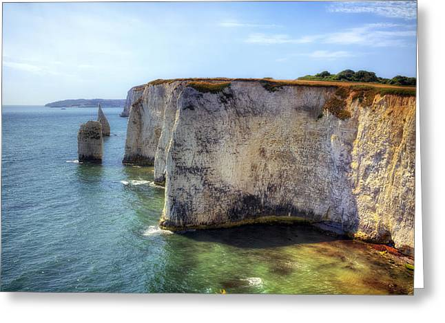 Sea View Greeting Cards - Purbeck - Dorset Greeting Card by Joana Kruse