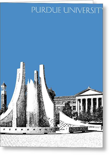 Indiana University Greeting Cards - Purdue University 2 - Engineering Fountain - Slate Greeting Card by DB Artist