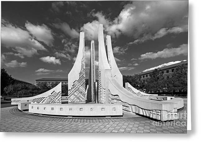 Big Ten Conference Greeting Cards - Purdue University Engineering Fountain Greeting Card by University Icons