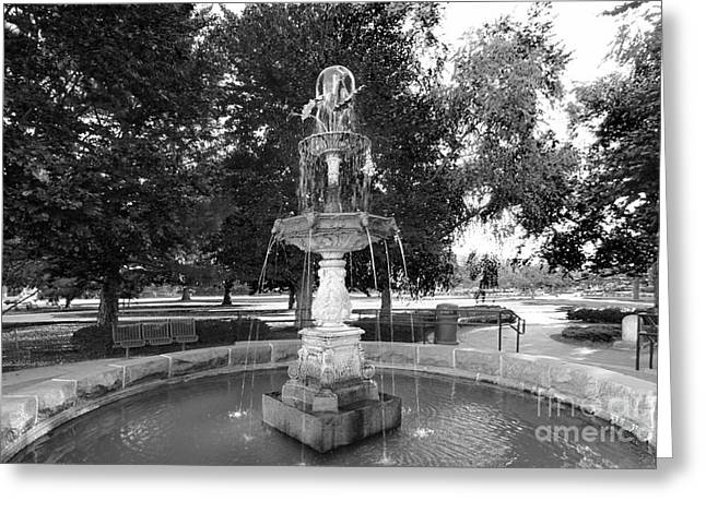 Big Ten Conference Greeting Cards - Purdue University Fountain Greeting Card by University Icons