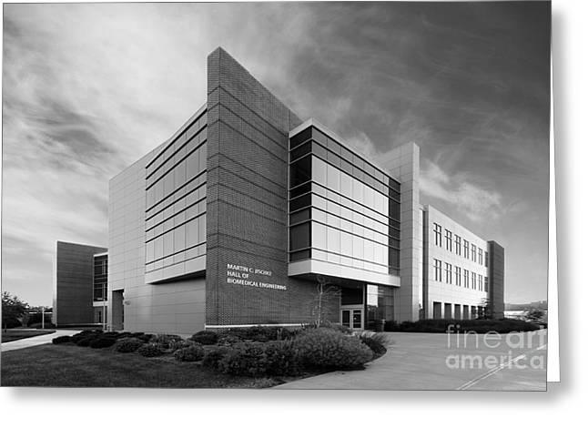 Purdue University Jischke Hall of Biomedical Engineering Greeting Card by University Icons