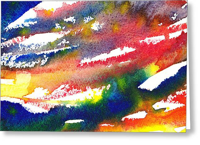 Imagination Greeting Cards - Pure Color Inspiration Abstract Painting Blizzard Born Greeting Card by Irina Sztukowski
