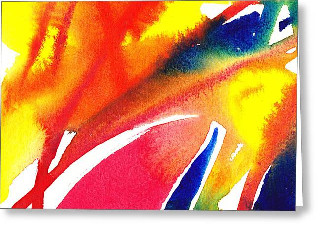 Imagination Greeting Cards - Pure Color Inspiration Abstract Painting Enchanted Crossing Greeting Card by Irina Sztukowski