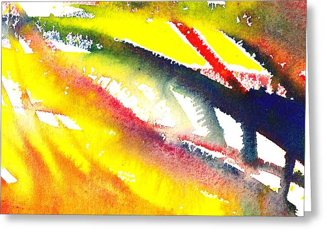 Pure Color Inspiration Abstract Painting Escaping Blaze Greeting Card by Irina Sztukowski
