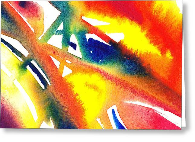 Pure Color Inspiration Abstract Painting Flamboyant Glide  Greeting Card by Irina Sztukowski
