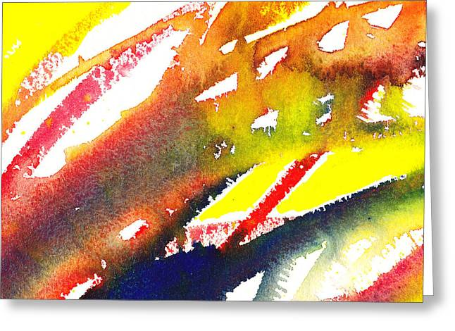 Imagination Greeting Cards - Pure Color Inspiration Abstract Painting Linea Forces Greeting Card by Irina Sztukowski