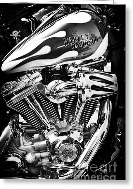 Hogs Greeting Cards - Pure Harley Chrome Greeting Card by Tim Gainey