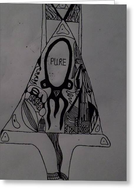Dali Inspired Greeting Cards - Pure Greeting Card by Jake Blythe