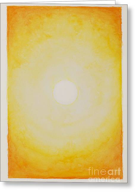 Inner Self Paintings Greeting Cards - Sunshine Greeting Card by Moira Rowe