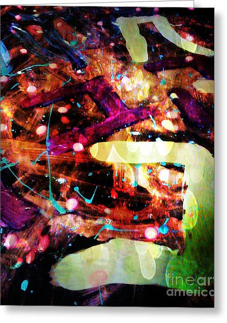 Abstract Digital Mixed Media Greeting Cards - Breathless Greeting Card by Alexander Ladd