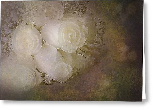 Botany Greeting Cards - Pure Roses Greeting Card by Susan Candelario