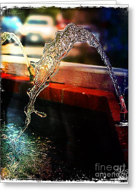 Flowing Wells Greeting Cards - Pure Water Flow Greeting Card by Absinthe Art By Michelle LeAnn Scott