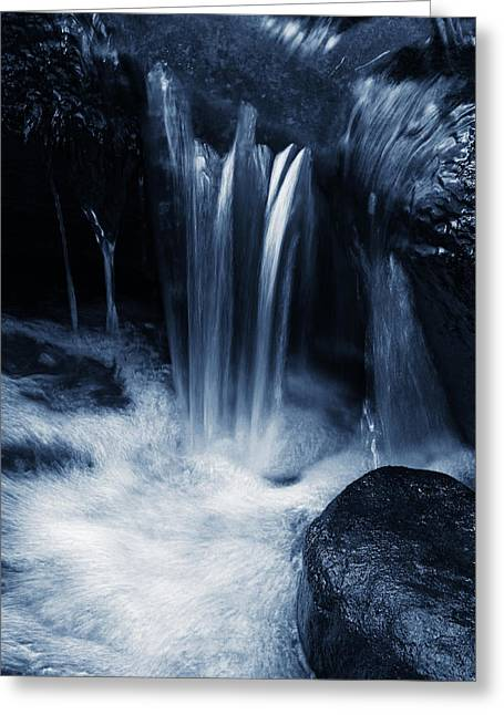 Rapids Greeting Cards - Pure water Greeting Card by Les Cunliffe