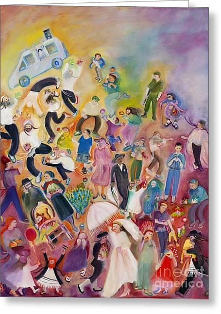 Best Sellers -  - Purim Greeting Cards - Purim Greeting Card by Chana Helen Rosenberg