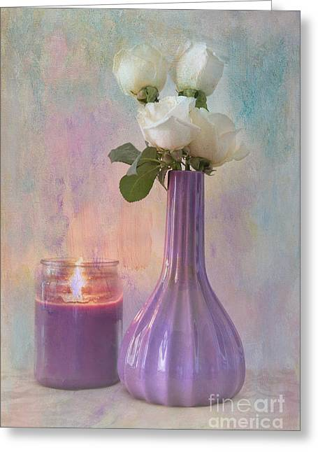Candle Lit Greeting Cards - Purity Greeting Card by Betty LaRue